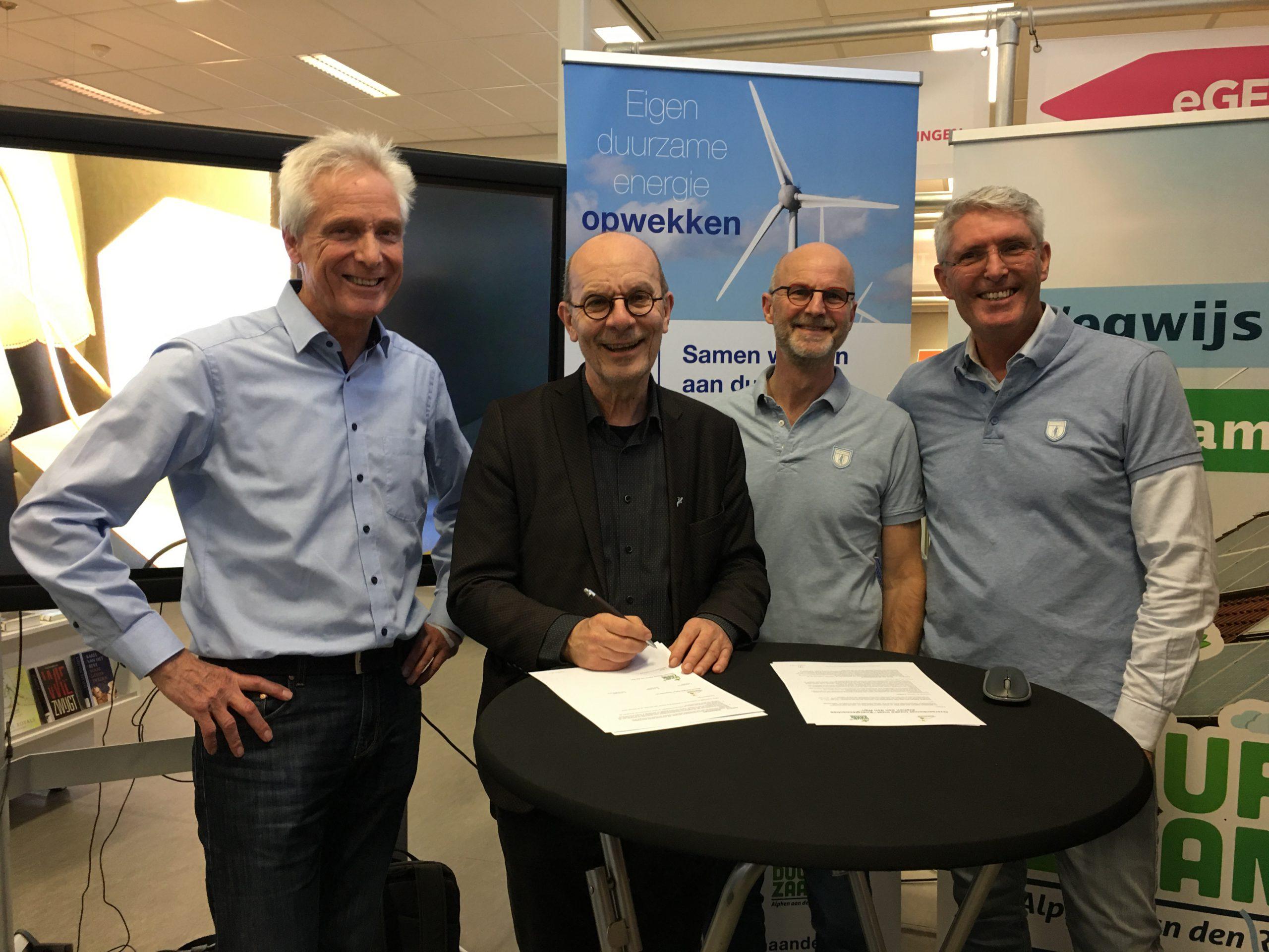 Ondertekening overeenkomst energiecoaches